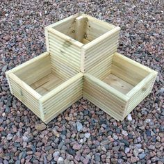 Large Corner L shaped WOODEN GARDEN PLANTER BOX Trough Herb Planters in Decking | eBay