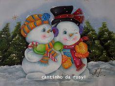 Cantinho da Rosyane: Guardanapos country e natal......pintura em tecido!!!!!