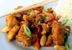 Nejedlé recepty: Kuře Kung Pao Kung Pao Recept, Asian Recipes, Ethnic Recipes, Kung Pao Chicken, Wok, Chicken Recipes, Food And Drink, Low Carb, Chinese