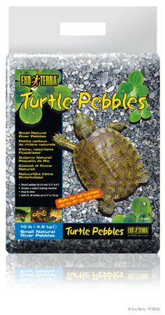 GUIJARROS EXO TERRA TURTLE PEBBLES Cantos rodados de superficie lisa para acuaterrarios y paludarios. Procedente de ríos africanos. Gran efecto decorativo. Fácil limpieza. Disponible en dos tamaños de guijarro para tortugas de diferentes tamaños. Bolsa de 4,5 kg. http://www.geckolandia.com/sustratos/exo-terra-guijarro-rio-turtle-pebbles-214#