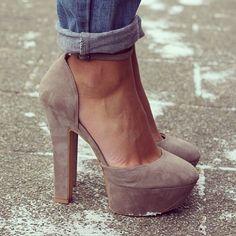 Women's Fashion High Heels : open sided pumps Zapatos Shoes, Shoes Heels, Suede Heels, Tan Heels, Burgundy Heels, Comfy Heels, Green Heels, Jeans Shoes, Fashion Handbags