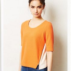 Anthropologie Color Block top Cute top from anthro. Anthropologie Tops