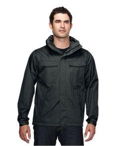 Mens Hoody jacket 100% polyester. Tri mountain J6025  #black    #Hoody #HoodedJacket #zipper
