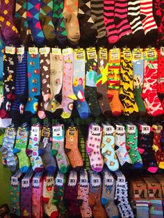 I live in a place where we have entire stores dedicated to crazy socks. Edited to Add: Since so many people have asked: the shop is The Sock Monster in Seattle. There are a small, local, women-owned. Funky Socks, Crazy Socks, Cute Socks, My Socks, Happy Socks, Sock Monster, Aesthetic Clothes, Sock Shoes, Matilda