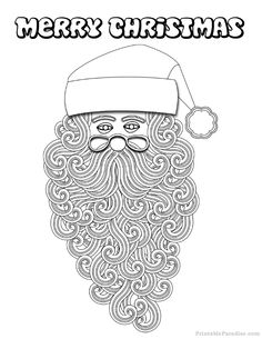 Print Christmas Coloring Pages for Free. Printable Christmas Coloring Pages for all ages. Christmas Coloring Pages in Black and White Printable Format. Coloring Pages For Kids, Coloring Sheets, Christmas Colors, Merry Christmas, Printable Christmas Coloring Pages, Santa, Printables, Activities, Holiday