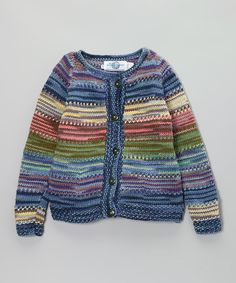 Take a look at this Navy & Purple Fiesta Cardigan - Girls on zulily today!