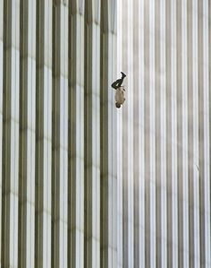 The Falling Man. God bless all those who lost loved ones in the September 11th attacks, and may the victims rest in peace. - Imgur
