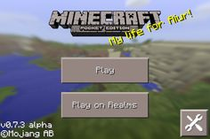 Gameplay Season 3-Day after #68 0.7.3 just came out!  Hey, videogamer TechWhiz here! As you can see, Minecraft PE has a new and improved title screen! It has those weird yellow sentences that make no sense and a moving background! Also, it has animated chests and sun, moon, and stars! Comment and repin if you like my content! Like, it only takes 1.1 seconds! Follow to be a TechWizard! It now has benefits! Bye! ;)