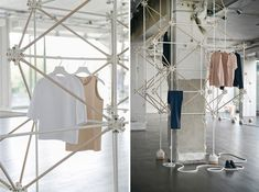 COS has teamed up with French design duo Bonsoir Paris to create a pop-up concept store for the Milan furniture fair this week. Window Display Retail, Retail Displays, Shop Displays, Window Displays, Store Concept, Milan Furniture, Furniture Design, Visual Merchandising Displays, Visual Display