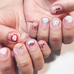 """""""Nail art inspired by some of Luc's favourite toys. By the always-amazing Natsumi """""""