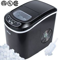 DELLA 048GM48183 Portable Ice Maker EasyTouch Buttons Digital 2 Selectable Cube Sizes  Up To 26 LBS of Ice Daily -- See this great product.