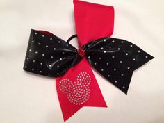 Mickey Mouse club worlds bow 3 ribbon w by SweetAngelDreamBows