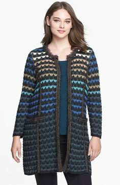 NIC+ZOE 'Northern Lights' Sweater Jacket (Plus Size) available at #Nordstrom