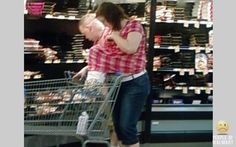 Breast feeding in Walmart.