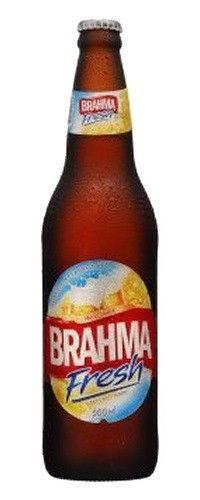 Cerveja Brahma Fresh, estilo Standard American Lager, produzida por AmBev, Brasil. 4.7% ABV de álcool.