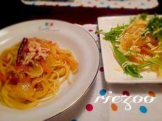 めんつゆで味付け。簡単で美味しい~(*^^*) - 44件のもぐもぐ - ☆和風パスタ ☆大根サラダ by rietantan