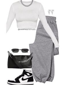 Swag Outfits For Girls, Cute Swag Outfits, Komplette Outfits, Cute Comfy Outfits, Sporty Outfits, Teenager Outfits, Dope Outfits, Retro Outfits, Stylish Outfits