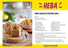 HEBA Bunny Chow with vegetable curry - Banting Blvd Banting Diet, Lchf, Banting Desserts, Low Carb Veggies, Ground Coriander, Vegetable Curry, Chow Chow, Cooking Time