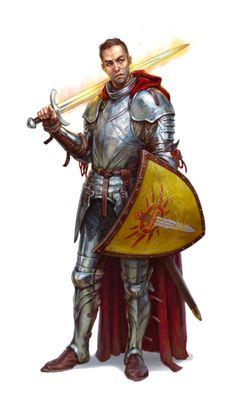 Human Warpriest of Iomedae - Graxus Phand - Pathfinder PFRPG DND D&D d20 fantasy