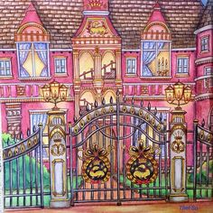 """34 Likes, 3 Comments - Thet Su Swe (@thet_suswe) on Instagram: """"Count Spencer's Mansion #romanticcountry2 #romanticcountrycoloringbook #adultcoloring…"""""""