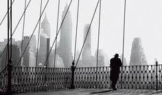 Brooklyn Bridge View, New York City, 1950, photo byPaul Himmel
