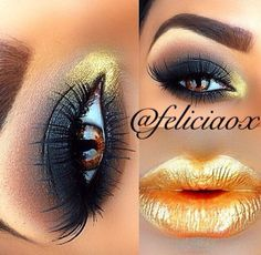 Golden makeup