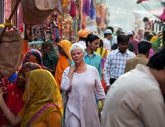 The Best Exotic Marigold Hotel ~ What a beautiful woman!