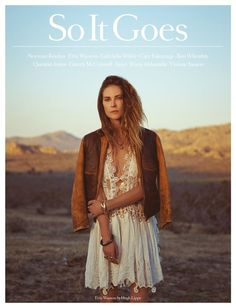 The Latest So It Goes Magazine Editorial Embraces Raw Boho with Erin Wasson #photography trendhunter.com