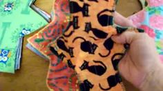 how to sew cloth pads - YouTube