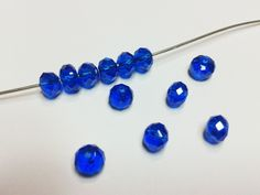 12 pcs Swarovski Crystal Beads 6x4mm Faceted Rondelle Briolette Colbolt Blue. $3.99