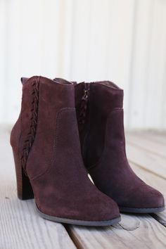 """- Leather - Suede upper - Medial zipper entry - Braiding detail - Heel pull-on loop - Textile lining - 5.5"""" zippered shaft"""