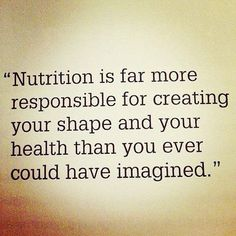 Nutrition trumps Fitness when trying to lose weight. Nutrition Quotes, Fitness Nutrition, Health And Nutrition, Health And Wellness, Proper Nutrition, Nutrition Tips, Health Tips, Nutrition Education, Health Quotes