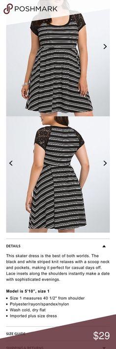 Torrid 0 striped lace inset dress M2 Torrid 0 striped lace inset dress M2 Good used condition torrid Dresses