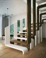 Exceptional wooden and glass staircase design . - Home Design : Exceptional wooden and glass staircase design . Contemporary Stairs, Modern Stairs, Interior Stairs, Home Interior Design, Nordic Interior, Cafe Interior, Interior Doors, Interior Lighting, Interior Ideas