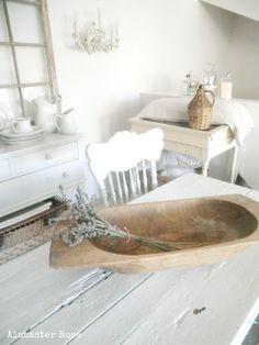 Alabaster Rose Designs & Home Shabby Vintage, Vintage Decor, Rustic Decor, Shabby Chic, Rustic Bowls, Wooden Bowls, White Cottage, White Farmhouse, French Cottage