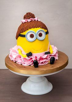 Minion in a tutu Pretty Cakes, Beautiful Cakes, Amazing Cakes, Ballet Cakes, Ballerina Cakes, Cupcakes, Cupcake Cakes, Themed Birthday Cakes, Themed Cakes