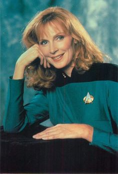 Star Trek The Next Generation Dr. Beverly Crusher Portrait Postcard