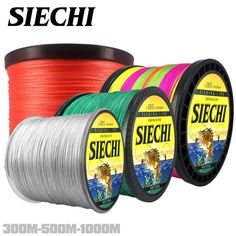 SIECHI 300M 500M 1000M 8 Strands 20-88LB New PE Braided Fishing Wire Multifilament Super Strong Fishing Line Japan Multicolour Review Fishing Line, Sea Fishing, Saltwater Fishing, Fishing Boats, Line Japan, Ocean Rocks, Ocean Beach, Strands, Fresh Water