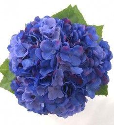 Bridesmaids Posy of Light and Dark Blue Silk Hydrangea Blooms