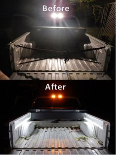Led strip bed lights.