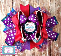 Daddy has my heart boutique style hair bow