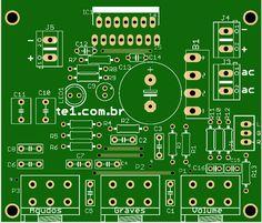 TDA7297 - Amplificador potência com controle tons em #Amplificador #audio #Circuitos #Pre-amplificador #Amplificador #amplificadordeáudio #amplificadordepotência #Circuitos #Pré-amplificadores por Toni Rodrigues