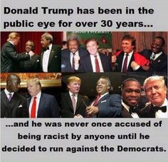 Um no research folks educate yourselves. He and his father were accused of being racist decades ago when they refused to rent apartments to black AMERICANS.
