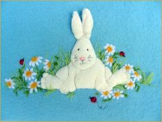 In the Daisy Patch Applique and Embroidery Blanket kit. (copyright Jan Kerton). Available from Australian Needle Arts. To view full range please click on http://www.australianneedlearts.com.au/applique-blankets-jan-kerton?page=1