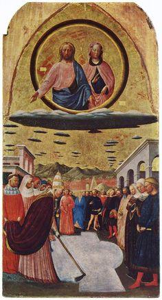 Fondazione della chiesa di Santa Maria Maggiore, opera di Masolino da Panicale che si trova al Museo Nazionale di Capodimonte, Napoli