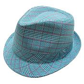 Cotton Fine Line Plaid Fedora Hat --- $5.85