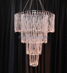 Large 4-Tiered Chandelier with Layered Diamond Cut Beads (a person could probably make this)