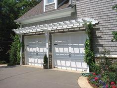 Pergola Design Ideas Garage Kits Vinyl Pergolas Over Garages Doors Door Trellis Arbor Simple White Plants Combined Stylish