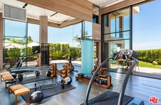 Bel Air Mansion, Family Room, Home And Family, Mega Mansions, Gym Room, Los Angeles Homes, Luxury Real Estate, Home Values, New York City