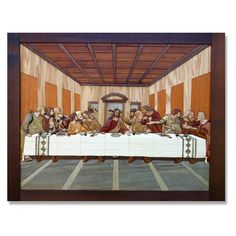 The Last Supper Intarsia Pattern